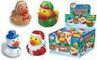 4xChristmas Rubber Bath Ducks/Snowman/Santa/Elf/Gingerbread Man Stocking Filler