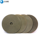 """4Pcs 5"""" Electroplated Diamond Polishing Pads Sanding Disc Grinding Wet for Stone"""