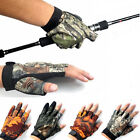 EP  3/5 Cut-Finger Waterproof Fishing Gloves Hunting Anti-Slip Mitts Camouflage