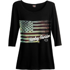 Harley-Davidson Women's Washed Flag Tee R002660 $40.0 USD on eBay