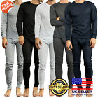 Mens 2PC Thermal Top Bottom Underwear Waffle Set New Long Sleeve Pants S ~ 3XL