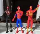 """Three Marvel Ultimate 12"""" Spidermen: Ultimate + Black + Red Suits Perfect Condit"""
