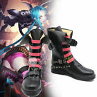 Hot Game LOL Jinx Cosplay Shoes boots Custom made/ free shipping