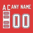IIHF Hockey 1988 Team Canada Red Jersey Customized Number Kit un stitched