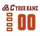 Calgary Flames 2017-2018 White Jersey Customized Number Kit un-stitched $34.99 USD on eBay
