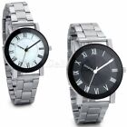 Mens Womens Fashion Stainless Steel Watches Couples Analog Quartz Wrist Watch image