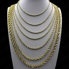 Kyпить Real 10K Yellow Gold 2mm - 6mm Diamond Cut Rope Chain Necklace Bracelet 16