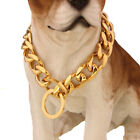19mm Pet Dog Collars Gold Silver Miami Cuban Chain Dog Stainless Steel Necklace