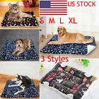 Large Medium Small Pet Dog Cat Bed Puppy Cushion Soft Warm Kennel Mat Blanket US