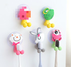 1PC Lovely Silicone Cartoon Toothbrush Holder Home Bathroom Wall Hanger