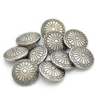 10X DIY Sewing Fastener  Flower Pattern Shank Buttons Metal Craft 23mm Stylish