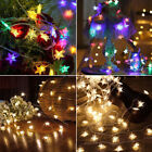 Star Shaped Led Lights String Bottle Wall Bedroom Party Fairy Lamp Home Decor Uk