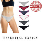 Women's Thong Panties Underwear with Soft Cotton | Comfortable Fit | Lot of 3-10