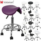 Voilamart Salon Stool Bar Chair Saddle Beauty Hairdressing Swivel Gas Lift Home