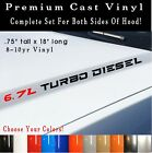 67L Turbo Diesel Hood Engine Decals Dodge Ram 2500 3500 Premium Vinyl Style 2