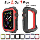 Replacement Silicone Case Band for Apple Watch Series 3 2 1 38mm 42mm B23  image