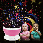 Night Sky Light Rotating Projection Stars Lamp Projecter Disco For Baby Kids
