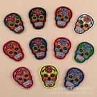 Rose Skull Badges Embroidered Iron on Patch Ghost Applique Bag Shirt DIY Logos $0.99 USD on eBay