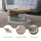 Contemporary Wood & Glass Coffee Table Side / End Table Living Room Furniture