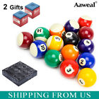 "New Billiard Deluxe Pool Ball Set Standard Size 2-1/4"" Shipped In Padded Bag $26.59 USD on eBay"