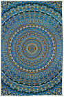3D TAPESTRY-HARMONY IN COLOR-Psychedelic-FREE GLASSES 60X90
