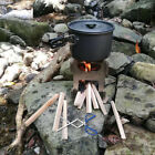 Lixada Stainless Steel Wood Stove Pocket Alcohol Stove/Tweezers Backpacking T5B2