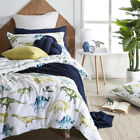 New Kids by Pillow Talk Dino Green Quilt Cover Set