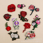 Embroidered Flower Badge Iron on Rose Patch Plum blossom Appliques Shirt Bag Hat $0.99 USD on eBay
