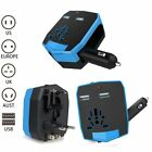 UK World Wide Universal Travel Adapter Multi Charger with Dual 2.5 A USB Kinden