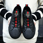 Men's Fashion Tiger Head Casual Shoes Lace Up Sneakers Breathable Walking Shoes