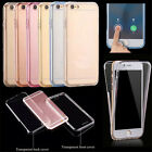 360° Front And Back Slim Clear TPU Gel Cover Case For iPhone 6/6Plus LS