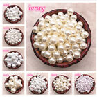 Внешний вид - Wholesale 4-40mm Round Imitation Pearl ABS Beads Jewelry Findings DIY Decoration