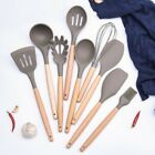 Wooden Handle Silicone Kitchenware Non-Stick Pan Utensils Kitchen Cooking Tools
