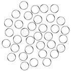 Fushing 100Pcs Stainless Split Rings, Crystal Chandeliers Connectors For Keys,