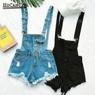 Women Black Pink Light Blue Denim Short Rompers Jumpsuit Overalls  For Girls