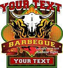 Внешний вид - Custom Barbecue Your Text DECAL (CHOOSE YOUR SIZE) BBQ Truck Concession Sticker