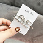 Women's Girls Rhinestone Hair Clip Crystal Letters Slide Hairclip Hair Pin INS