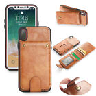 Bracket Purse Wallet split Phone Case for iPhone XS MAX Samsung Galaxy note 8