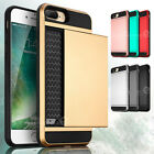 Shockproof Wallet Credit Card Holder Case Cover for Apple iPhone 6 6S 7 Plus EN