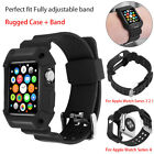 Apple Watch Series 4/3/2/1 Case iWatch Protective Rugged Cover Wrist Strap Band image