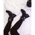 Cape Robbin UTILITY Black Lace Up Buckle Strap Chunky Sole Utility Sneaker Boot