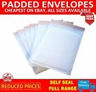 WHITE PADDED BUBBLE ENVELOPES BAGS POSTAL WRAP - ALL SIZES - VARIOUS QUANTITES