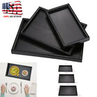 Rectangle Wood Tea Coffee Snack Food Serving Tray Restaurant Trays Plate US