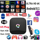 US New Android 8.1 Smart TV Box 4GB 32GB / 4GB 64GB H6 Quad Core 6K Media Player