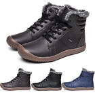 Mens Snow Boots Winter Warm Fur Lined High Top Outdoor Sneaker Shoes