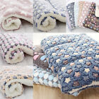 Dog Cat Puppy Pet Plush Blankets Mat Winter Warm Sleeping Bed DIY Accessory Hot