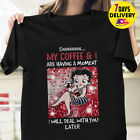 Betty Boop my coffee and I are having a moment T Shirt Black Size S-3XL $28.68 AUD on eBay