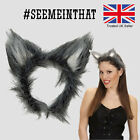 WOLF EARS AND TAIL SET GREY BIG BAD WOLF WEREWOLF WOLFMAN DOG ANIMAL COSTUME lot