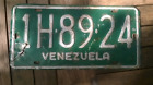 Vintage Venezuela Car License Plate Decade of 70´s Original Used