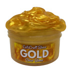 """SCENTED Slime Shiny """"Gold"""" Clear Stretchy Thick 2 4 6 8 oz Size Scent Handmade"""